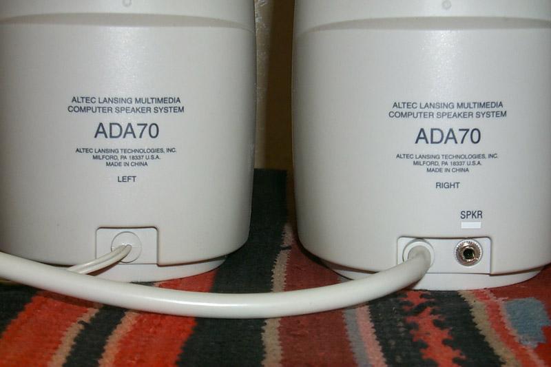 ALTEC LANSING ADA70 DRIVER WINDOWS XP