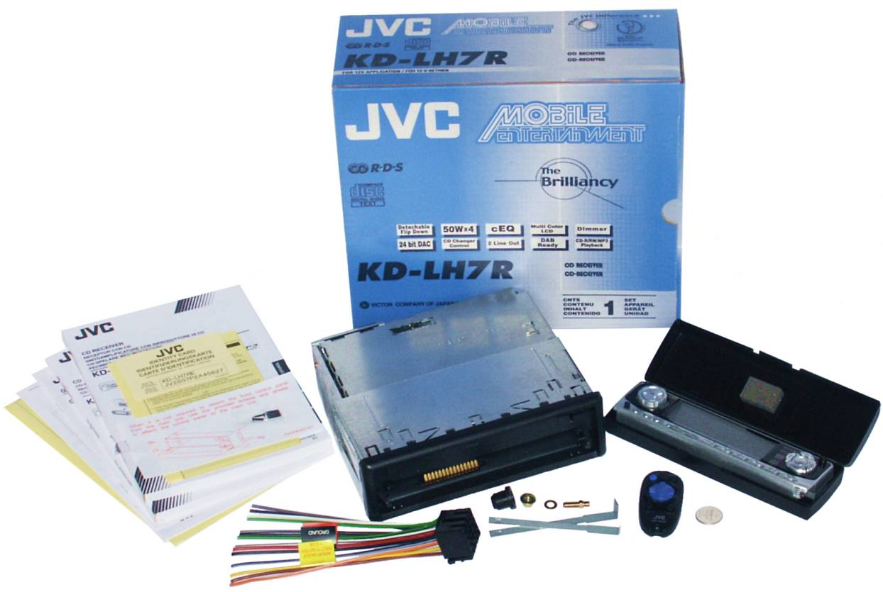 MP3/CD-автомагнитола JVC KD-LH7R.