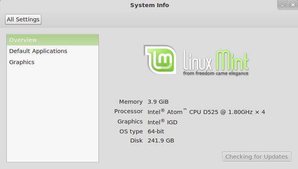 Linux Mint 12 на неттопе Foxconn Netbox nT535