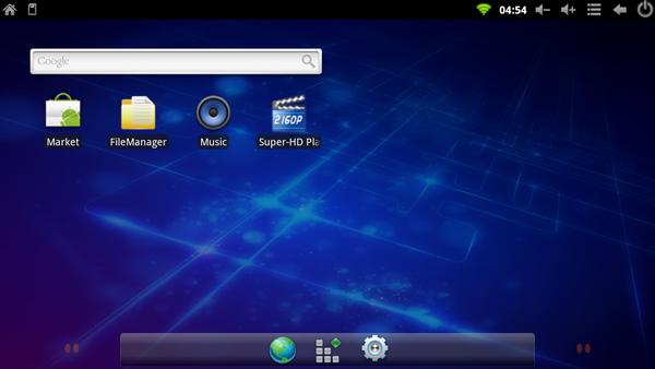 Главный экран медиаплеера iconBIT Toucan Smart