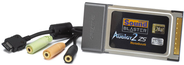 Продам звуковую карту Creative Audigy2 ZS Notebook (с разъемом PCMCIA).