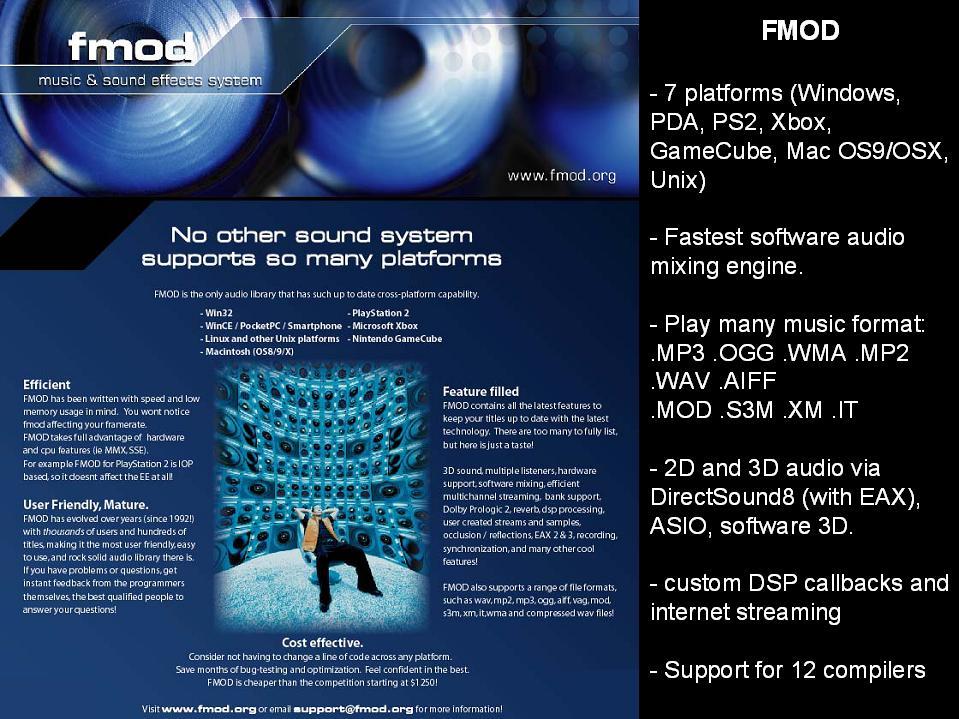 Modern Audio Technologies in Games