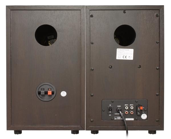 Защитные сетки полностью закрывают переднюю панель, они сделаны...  AVS-028.  Внешний вид колонок.