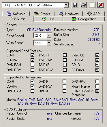 MSI CR52-M CD-RW drive IDE Series