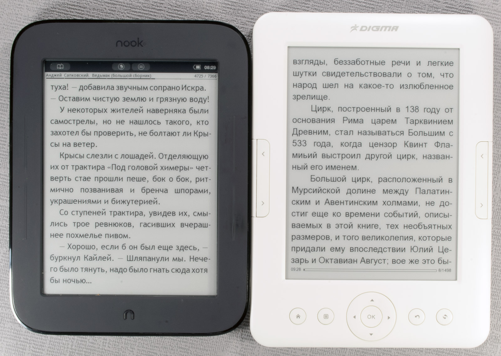 46aa94f45d93 Сравнение экранов E-Ink Pearl электронных книг Digma ...