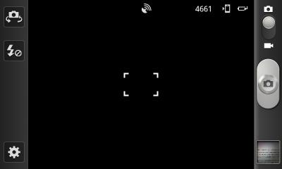 Обзор Samsung Galaxy S II. Скриншоты. Управление камерой: Основной экран