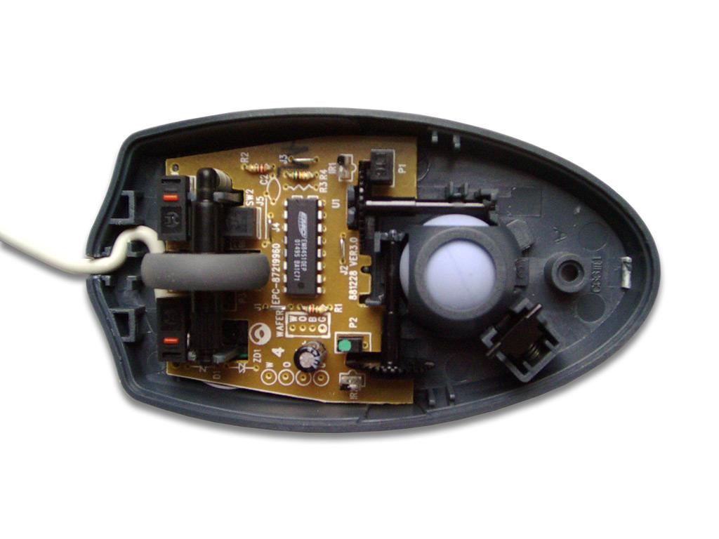 Устройство оптико-механической мыши.  Оптические мыши живут совсем иначе.  Механическая составляющая их конструкции...