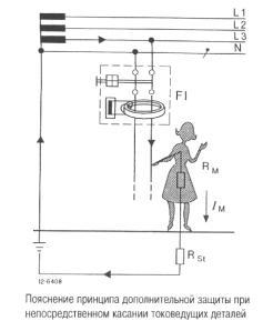 Дифференциальные автоматы - комбинация УЗО и Автомата.  Удар током от проводки на землю.