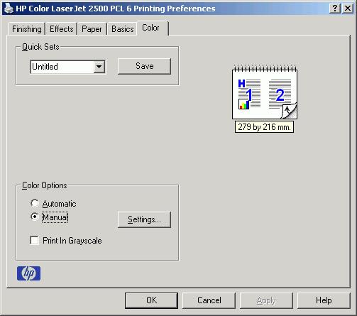 Как сделать чтобы принтер печатал только черным hp