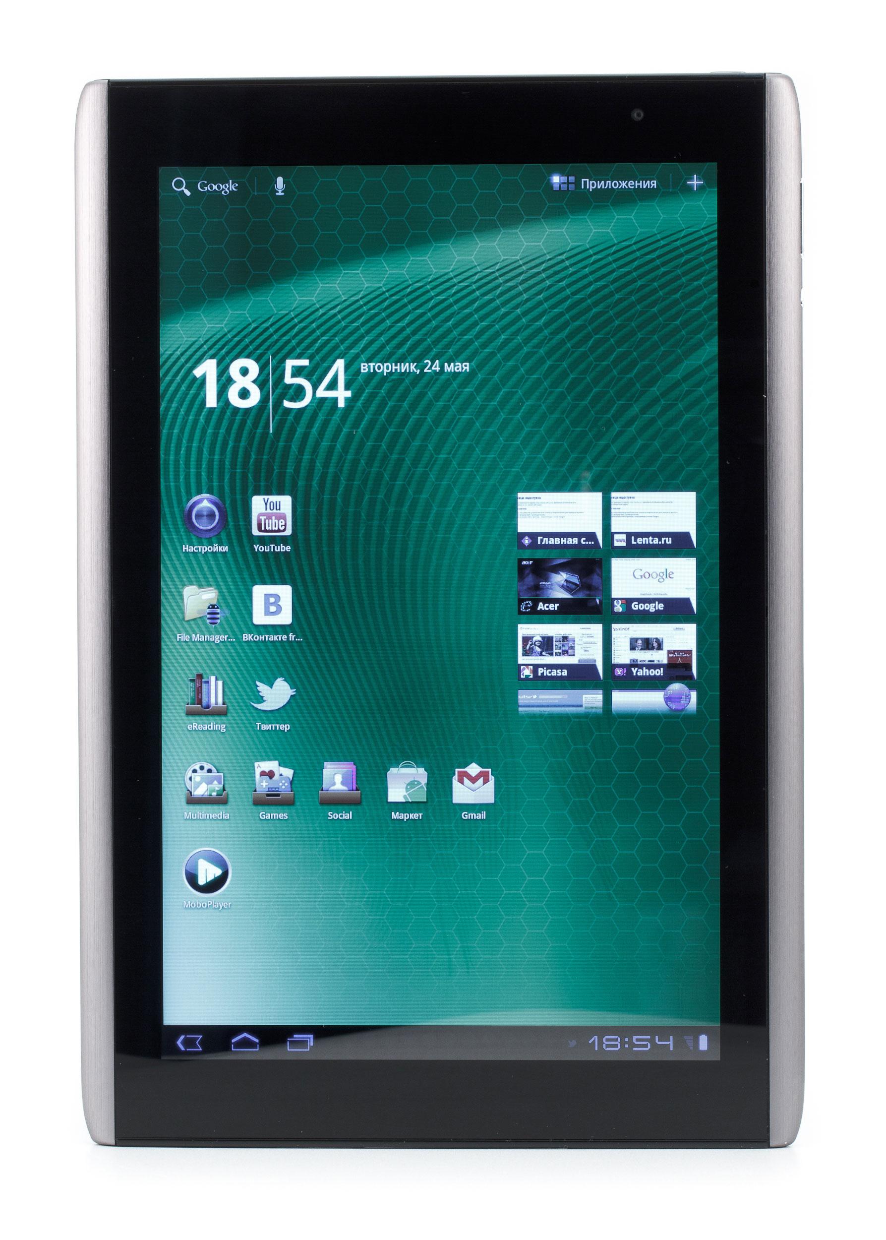 Внешне Acer Iconia Tab A500 производит очень приятное впечатление.  Наконец-то производители планшетов поняли...