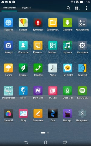 Операционная система Asus Fonepad 7 (FE375CG)