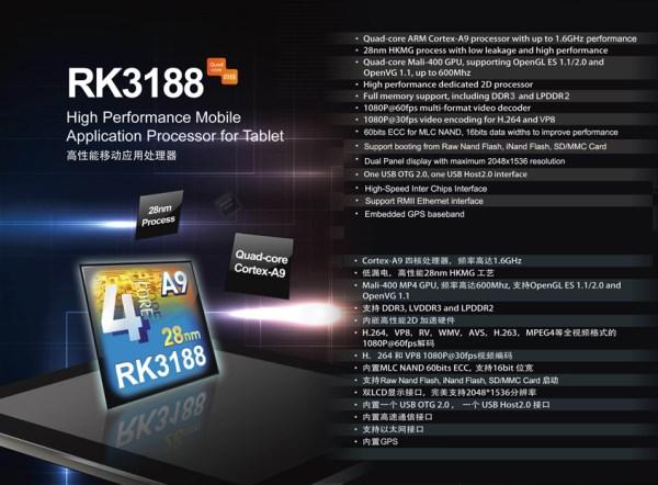 Однокристальная система Rockchip RK3188