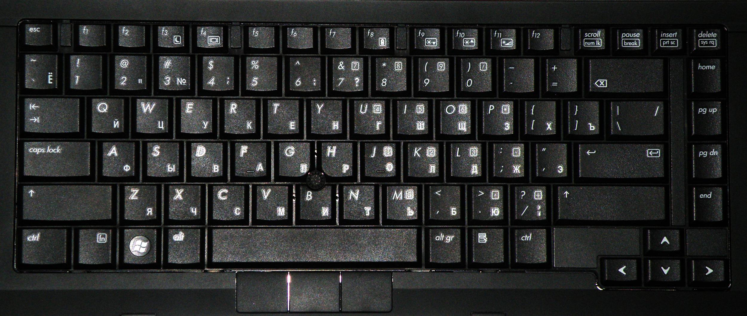 клавиатура hp инструкция