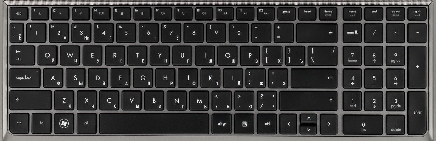В целом, раскладка клавиатуры