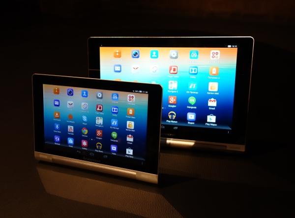 Планшет-трансформер Lenovo Yoga Tablet: 8- и 10-дюймовая модели с шикарной внешностью и рекордным временем автономной работы, но посредственной начинкой