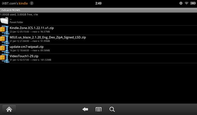 Установка неофициальных прошивок на планшет Kindle Fire с помощью TWRP