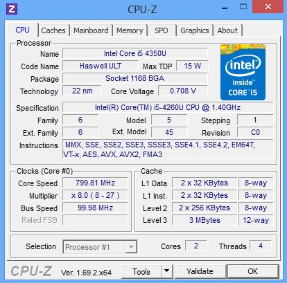 Температура процессора в этом