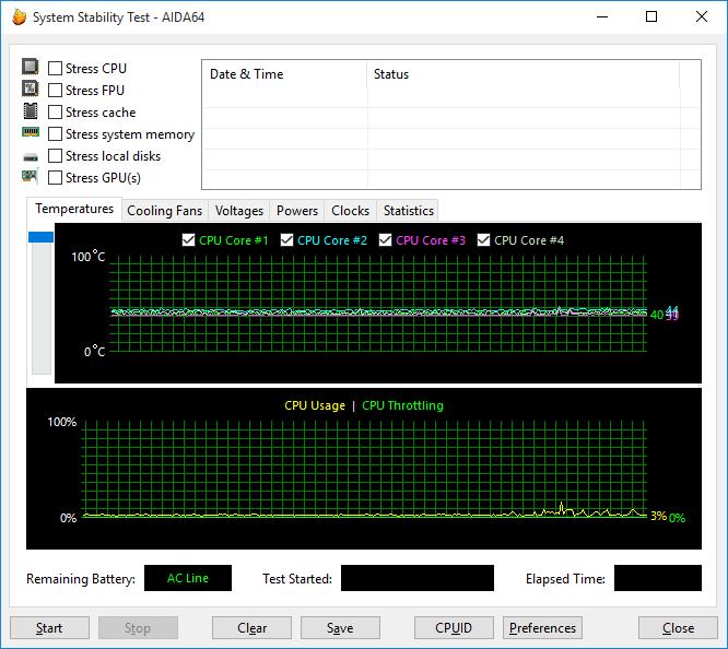 При загрузке процессора тестом