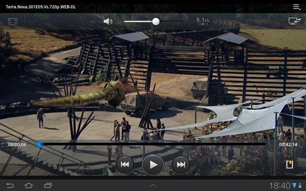 Штатный видеоплеер на планшете Samsung Galaxy Tab 7.7