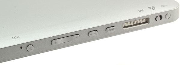 Кнопки на планшете FlyTouch 3 SuperPad 2