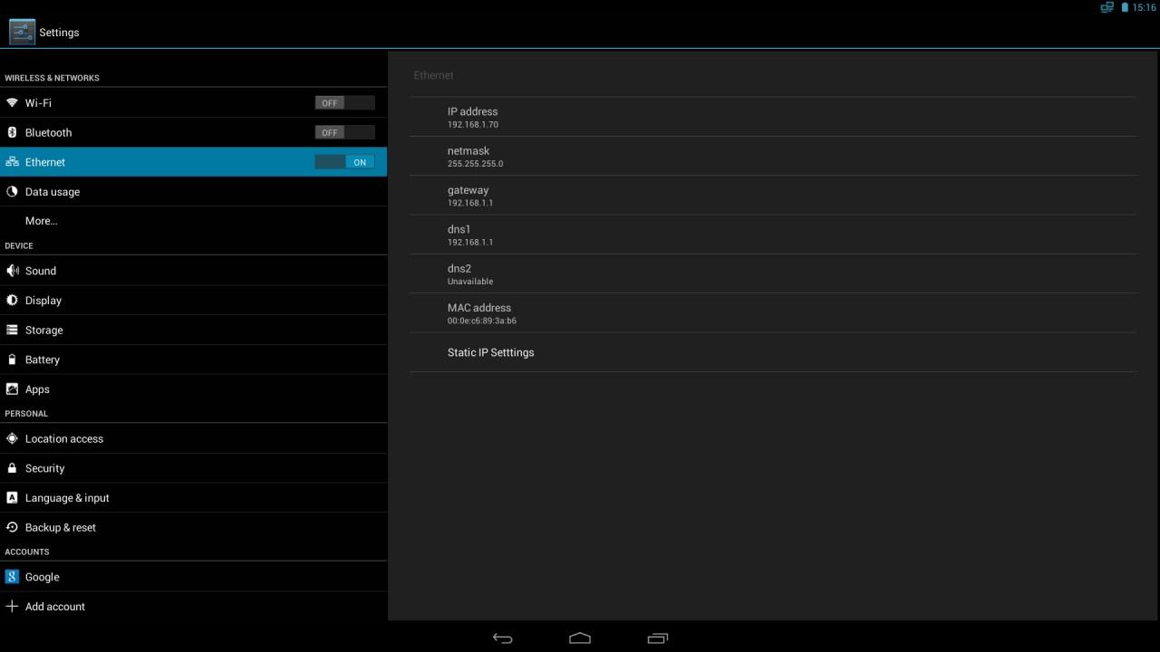 Планшет Android Настройка Интернет