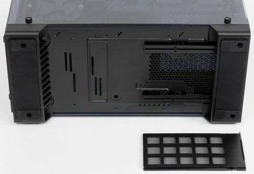 Конструкция нижнего фильтра корпуса Corsair Crystal Series 570X RGB