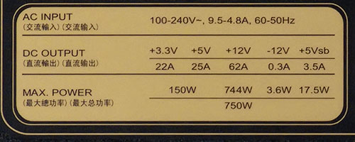 Характеристики блока питания SilverStone Strider Gold Evolution 750