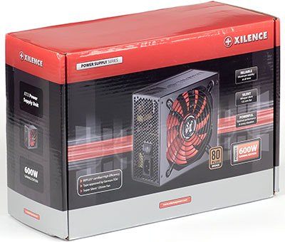Упаковка блока питания Xilence XP600 (XP600.(135)R3)