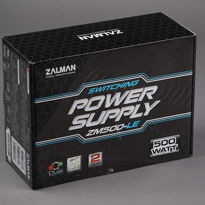 Упаковка блока питания Zalman ZM500-LE