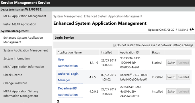 Universal Login Manager