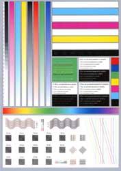 Печать тестовой полосы, бумага Epson Matte