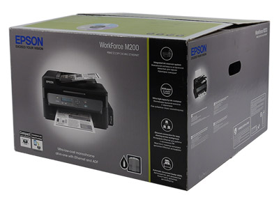 Epson WorkForce M200, упаковка