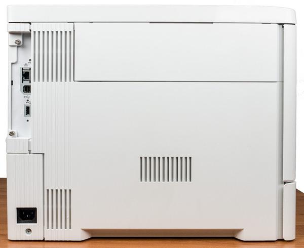 HP Color LaserJet Enterprise M553dn, разъемы