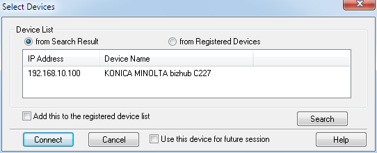 Konica Minolta bizhub C227, TWAIN-драйвер