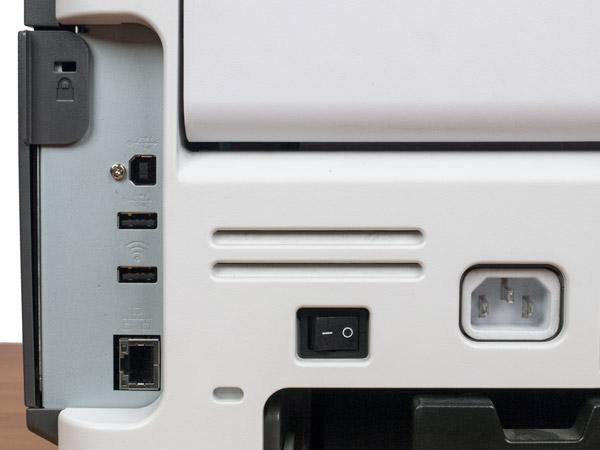 Lexmark MS610de, интерфейсные разъемы