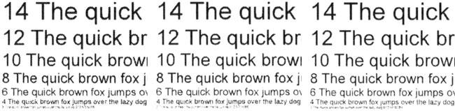 Lexmark MS610de, печать текстового образца