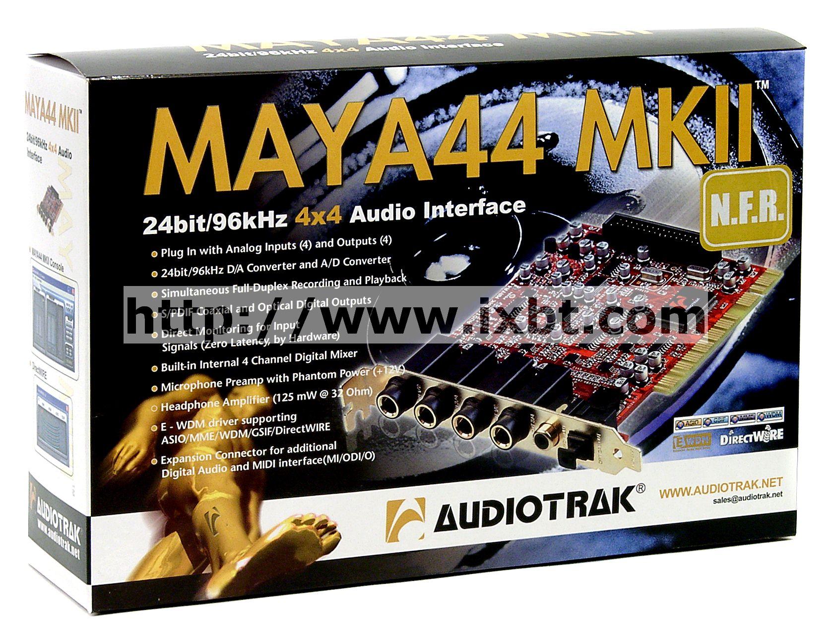 AUDIOTRAK MAYA 44 MKII WINDOWS 7 X64 DRIVER DOWNLOAD