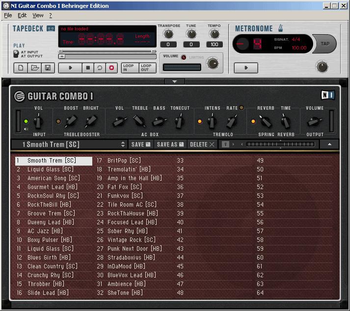 Guitar Combo II: блюзовый саунд.