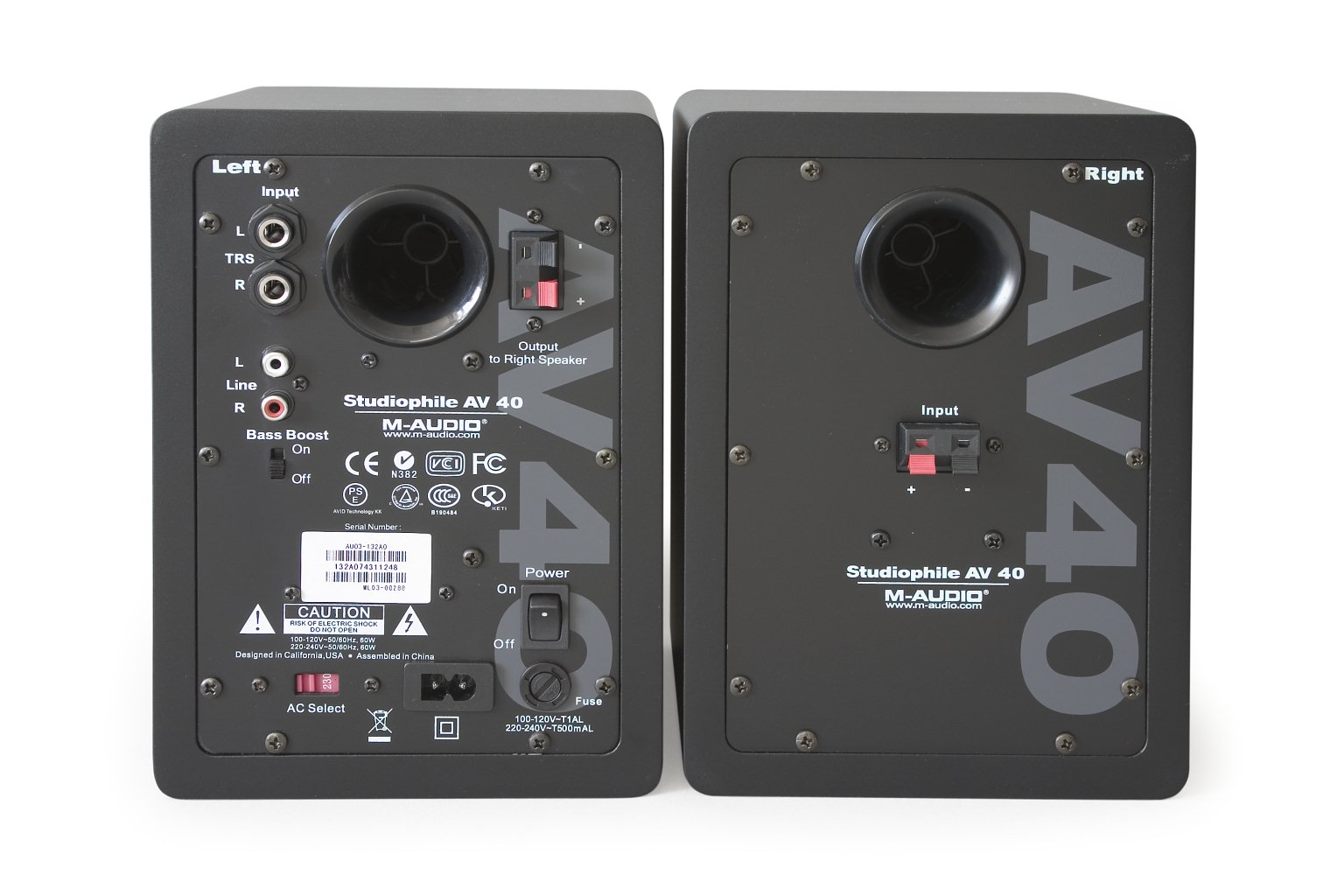M Audio Studiophile Av40 Active Stereo Speakers