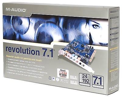 M-Audio Revolution 7.1 Sound Card Driver Windows