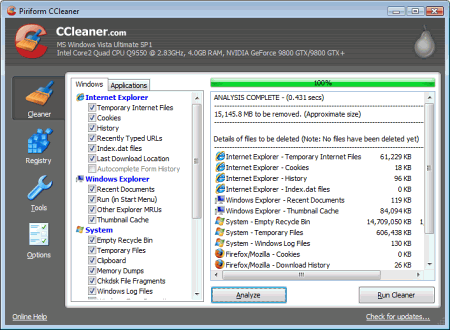 ��������� CCleaner
