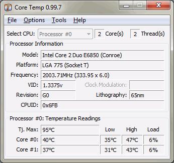 программа для отображения температуры процессора - фото 5