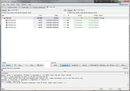 Внешний вид интерфейса GoodSync