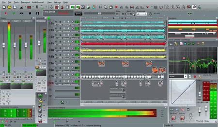 Интерфейс рабочего окна n-Track Studio