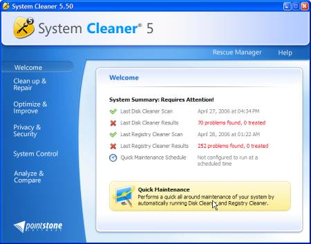 ������� ���� System Cleaner