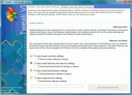Скриншот программы TweakVI