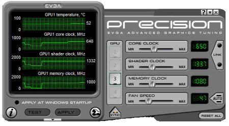 Скриншот программы EVGA Precision