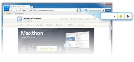 Фрагмент интерфейса Maxthon 3