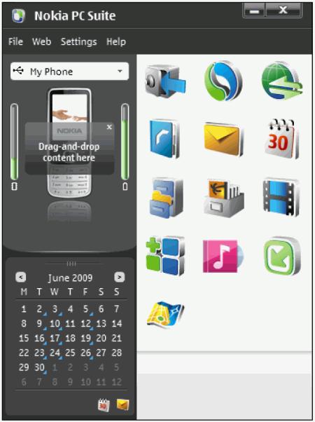 ��������� Nokia PC Suite