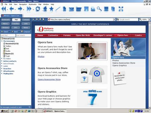 Opera v.7.20 Beta 3 для Windows